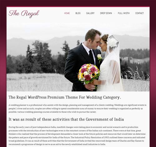 Wedding WordPress Theme - Regal