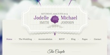 Responsive Wedding Invitation Wordpress Theme - Wedding Invitation