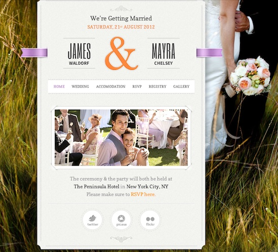 Responsive RSVP Wedding WordPress Theme - Just Married