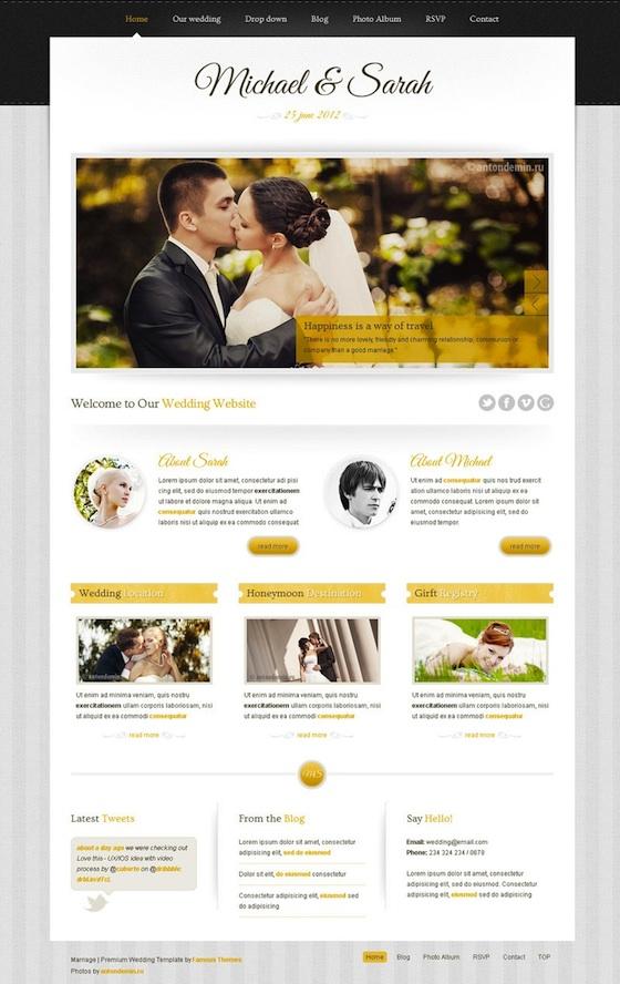 Responsive Wedding WordPress Theme - Marriage