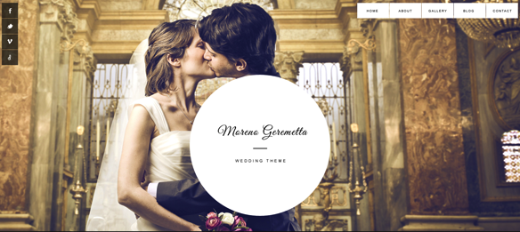 Responsive Wedding WordPress Theme - Moreno