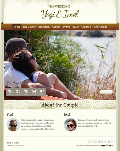 Responsive Wedding WordPress Theme with RSVP and Event Planning - The Wedding