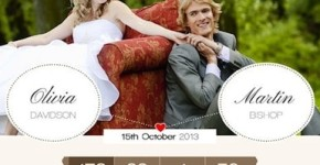 Responsive Wedding Wordpress Theme - Romantic Wedding