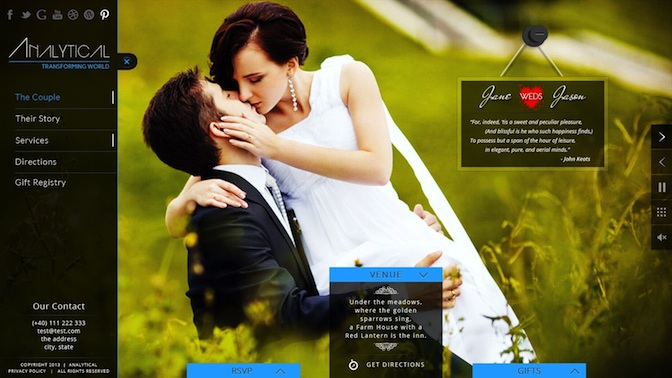 Responsive Wedding WordPress Theme RSVP & Event Planning - Analytical