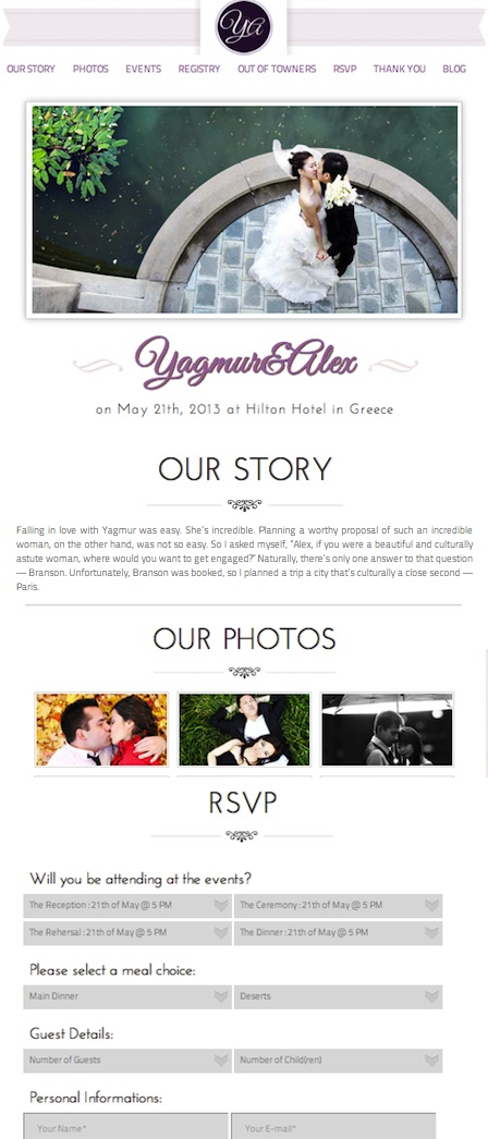 Responsive Wedding WordPress Theme - Wedding Day