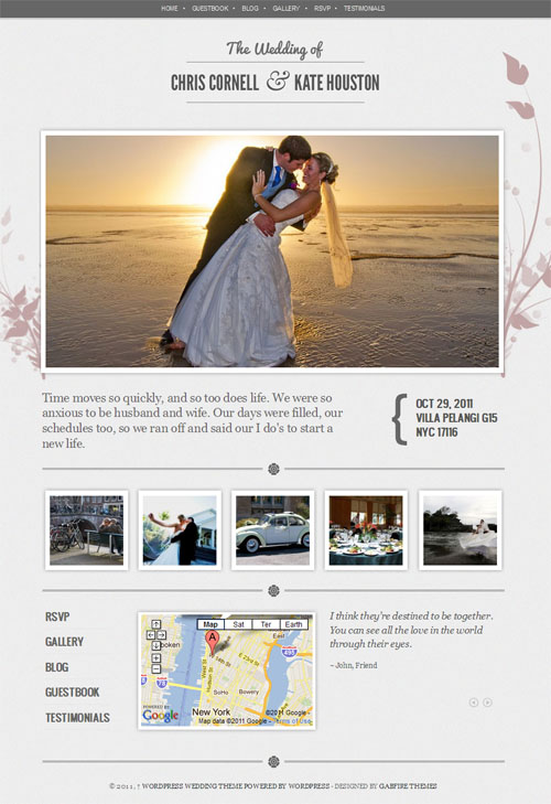 Wedding WordPress Theme - Wedding