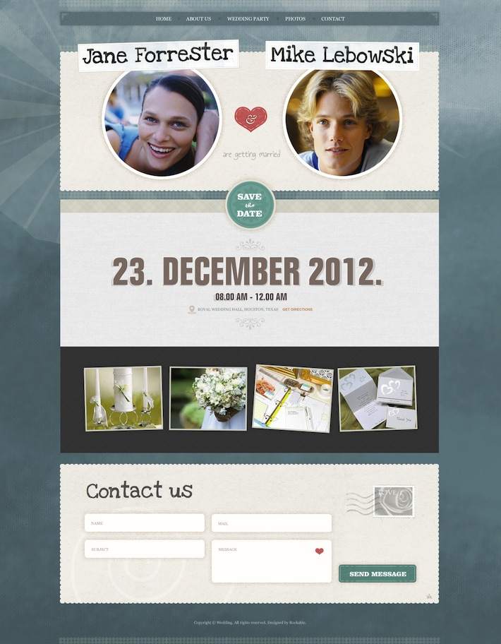 Wedding Invite WordPress Theme