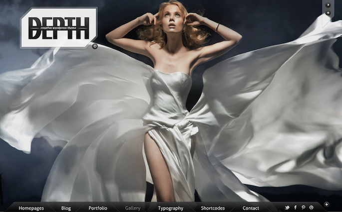 Wedding Photography WordPress Theme - Depth