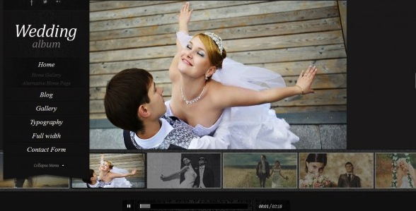Wedding Photography WordPress Theme - Wedding Album