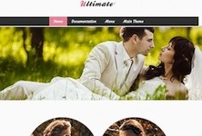 Professional Wedding Wordpress Theme - Ultimate